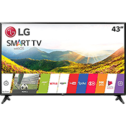 "Smart TV LED 43"" LG 43LJ5500 Full HD com Conversor Digital Wi-Fi integrado 1 USB 2 HDMI Com Webos 3.5 Sistema de Som Virtual Surround Plus"
