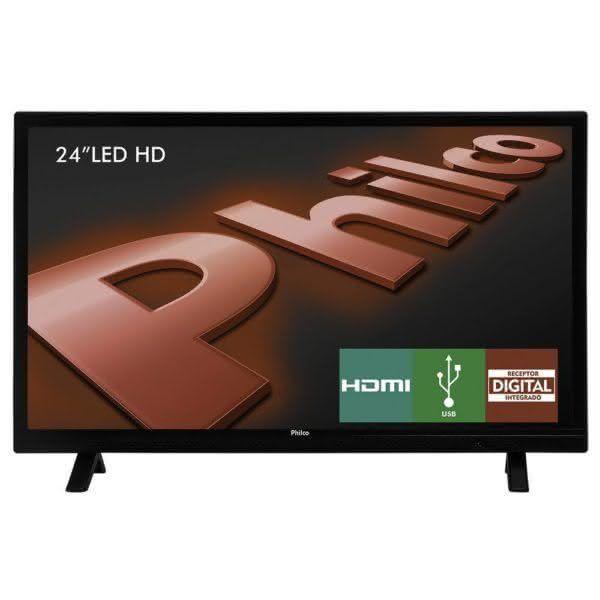 """Tv Led 24"""" Ph24e30d Hdmi 1.3 Usb Philco Bivolt"""