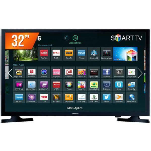 "Smart TV LED 32"" HD Samsung HG32NE595JGXZD Modo Hotel 2 HDMI Wi-Fi Integrado"