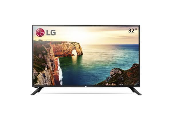 "TV 32"" LG 32LJ500B HD com Conversor digital 1 USB 2 HDMI"