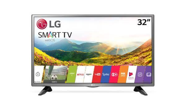 "Smart TV LED 32"" HD LG 32LJ600B com Wi-Fi, WebOS 3.5, Time Machine Ready, Magic Zoom, Quick Access, HDMI e USB"