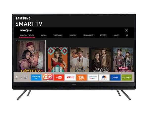 "Smart TV LED 49"" Full HD Samsung 49K5300 com Plataforma Tizen, Conectividade com Smartphones, Áudio Frontal, Conversor Digital, 2 HDMI e 1 USB"