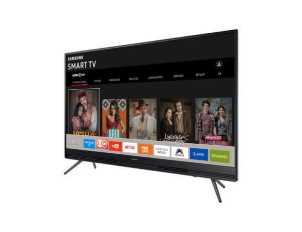 "Smart TV LED 49"" Full HD Samsung 49K5300 com Plataforma Tizen, Conectividade com Smartphones, Áudio Frontal, Conversor Digital, 2 HDMI e 1 USB"
