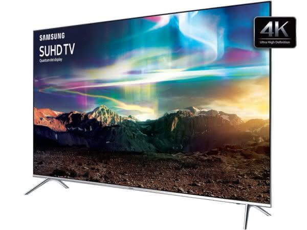 "Smart TV LED 55"" SUHD 4K Samsung 55KS7000 com Pontos Quânticos, HDR 1000, Sistema Tizen, One Control, Design 360° Ultra Slim, Quadcore"