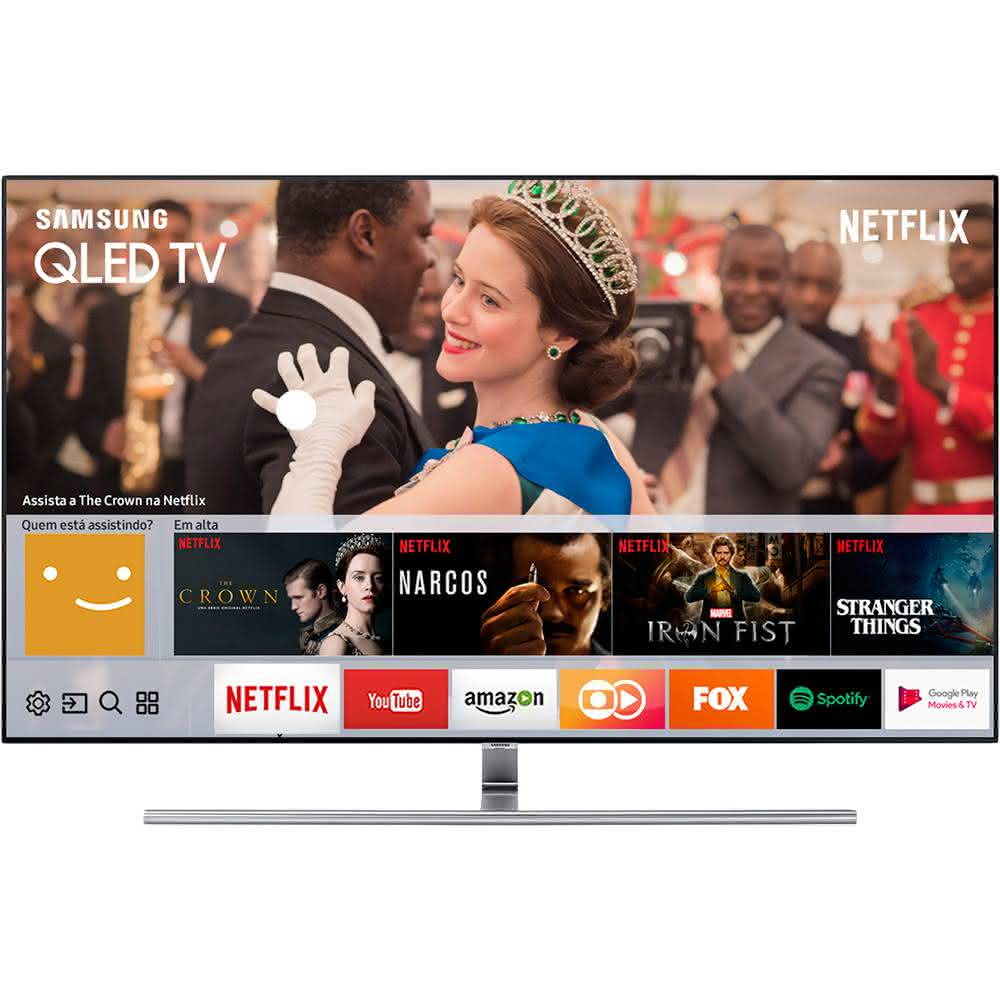 "Smart TV QLED 55"" UHD 4K Samsung 55Q7F QPicture com Pontos Quânticos, HDR1500, QStyle, Design 360, One Connect, QSmart 2"