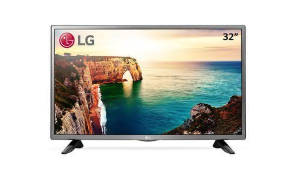 "TV LED 32"" HD LG 32LJ520B para Games Time Machine Ready, Game TV"