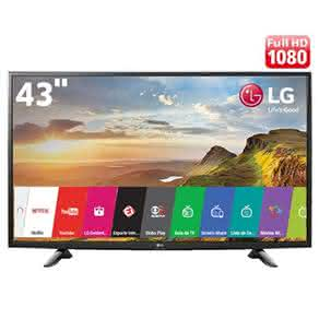 "Smart TV LED 43"" Full HD LG 43LH5700 com Painel IPS, Wi-Fi, Miracast, WiDi,"