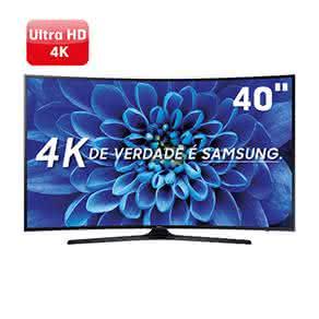 """Smart TV LED 40"""" UHD 4K Curva Samsung 40KU6300 com HDR Premium, Smart Tizen, Espelhamento de Tela"""