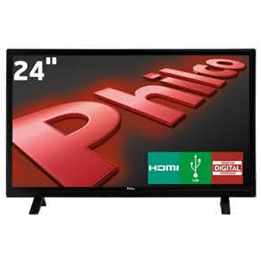 "TV LED 24"" HD Philco PH24E30D com Conversor Digital Integrado,"