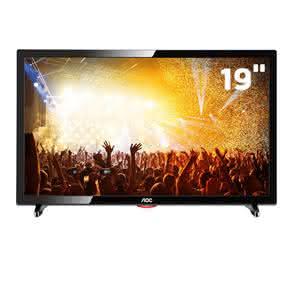 """TV LED 19"""" HD AOC LE19D1461 com Conversor Digital Integrado,"""