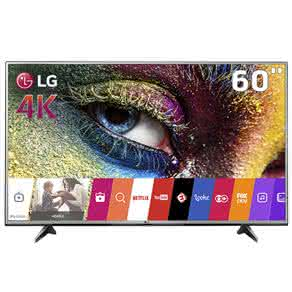 "Smart TV LED 60"" Ultra HD 4K LG 60UH6150 com Sistema WebOS, Wi-Fi, Painel IPS, HDR Pro, Upscaler, Entradas HDMI e Entrada USB"