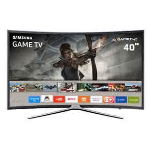 """Smart TV Games LED 40"""" Full HD Curva Samsung 40K6500 com Aplicativos, Plataforma Tizen, GameFly, Conectividade com Smartphones, Wi-Fi"""