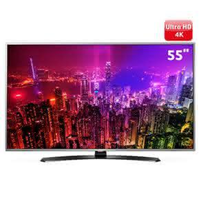 "Smart TV LED 55"" Super Ultra HD 4K LG 55UH7650 com Sistema WebOS, Wi-Fi, Painel IPS, HDR Super, Local Dimming, Controle Smart Magic, HDMI e USB"