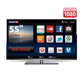 "Smart TV LED 55"" Full HD Toshiba 55L5400 com Conversor Digital Integrado, Wi-Fi, Entradas HDMI e USB"
