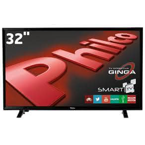 "Smart TV LED 32"" HD Philco PH32E20DSGWA com Android, Wi-Fi, ApToide, Som Surround, PVR, Entradas HDMI e USB"