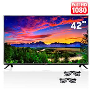 "TV Cinema 3D LED 42"" Full HD LG 42LB6200 com Painel IPS, Conversor 2D-3D, Entrada USB, Entradas HDMI e 2 Óculos 3D"