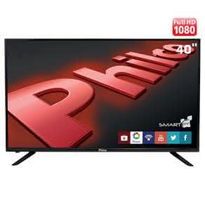 "Smart TV LED 40"" Full HD Philco PH40U21DSGW com Conversor Digital, MidiaCast, PVR, Wi-Fi,"