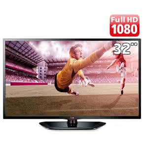 "TV 32"" LED Full HD LG 32LN5400 com Tecnologia MHL, USB DivX HD,"