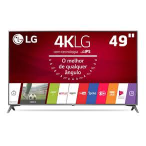 "Smart TV LED 49"" Ultra HD 4K LG 49UJ6565 com Sistema WebOS 3.5, Wi-Fi, Painel IPS, HDR, Local Dimming, Magic Mobile Connection, HDMI e USB"