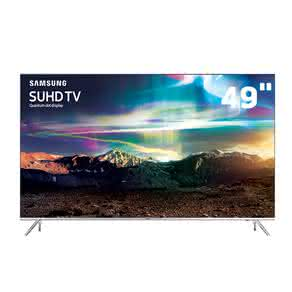 "Smart TV LED 49"" SUHD 4K Samsung 49KS7000 com Pontos Quânticos, HDR 1000, Sistema Tizen, One Control, Design 360? Ultra Slim, Quadcore, HDMI e USB"