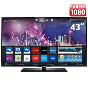 "Smart TV LED 43"" Full HD Philips 43PFG5100/78 com Perfect Motion Rate 120Hz, Pixel Plus HD, Entrada HDMI e Entrada USB"