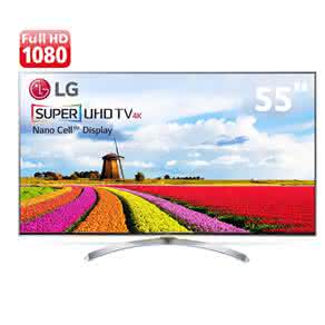 "Smart TV LED 55"" Super Ultra HD 4K LG 55SJ8000 com Sistema WebOS 3.5, Wi-Fi, Nano Cell, HDR, Local Dimming, Gaming, Controle Smart Magic, HDMI e USB"