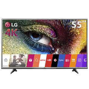 "Smart TV LED 55"" Ultra HD 4K LG 55UH6150 com Sistema WebOS, Wi-Fi, Painel IPS, HDR Pro, Upscaler, Entradas HDMI e Entrada USB"