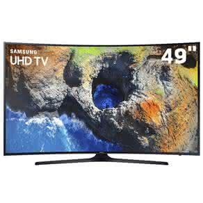 """Smart TV LED 49"""" UHD 4K Curva Samsung 49MU6300 com HDR Premium, Plataforma Smart Tizen, Smart View, Espelhamento de Tela, Steam Link, 3 HDMI e 2 USB"""