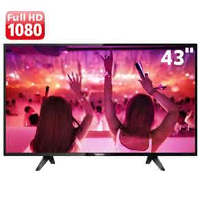 "Smart TV LED 43"" Full HD Philips PHG5102 com EasyLink, Pixel Plus, App Gallery, Miracast,"