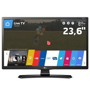 "TV Monitor Smart LED 23,6"" HD LG 24MT49S-PS com WebOS, Conversor Digital Integrado, Screen Share, Cinema Mode"