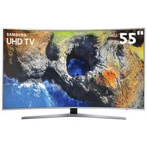"Smart TV LED 55"" UHD 4K Curva Samsung 55MU6500 com HDR Premium, Plataforma Smart Tizen, Controle Remoto único, Design 360, Smart View"