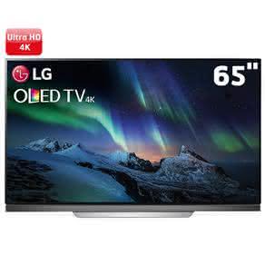 "Smart TV OLED 65"" Ultra HD 4K LG OLED65E7P com Sistema WebOS 3.5, Wi-Fi, HDR, Dolby Vision, Billion Rich Colors, Controle Smart Magic, HDMI e USB"