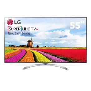 "Smart TV LED 55"" Super Ultra HD 4K LG 55SJ9500 com Sistema WebOS 3.5, Nano Cell, HDR, Local Dimming, Gaming, Controle Smart Magic"