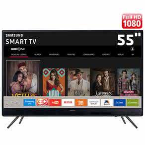"Smart TV LED 55"" Full HD Samsung 55K5300 com Plataforma Tizen, Conectividade com Smartphones, ?udio Frontal, Conversor Digital, Wi-Fi, 2 HDMI e 1 USB"