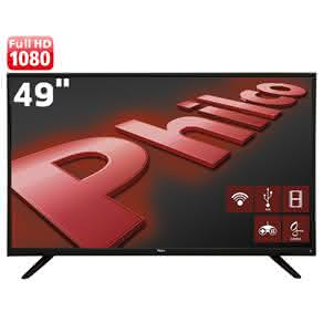 "Smart TV LED 49"" Full HD Philco PH49F30DSGWA Android, Wi-Fi , Ginga, ApToide, Som Surround, Midiacast"