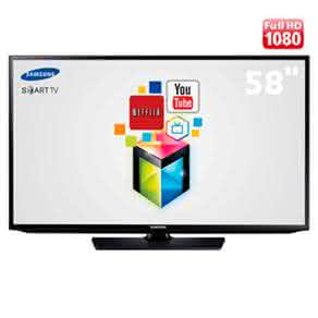 "Smart TV LED 58"" Full HD Samsung 58H5203 com Função Futebol, ConnectShare Movie,  e Wi-Fi"