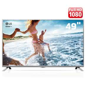 "TV LED 49"" Full HD LG 49LF5500 com Time Machine Ready, Painel IPS, Game TV,"