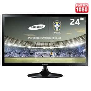 "TV Monitor LED 24"" Full HD Samsung LT24C310LBMZD com FunçãoFutebol, Connect Share Movie e Conversor Digital"