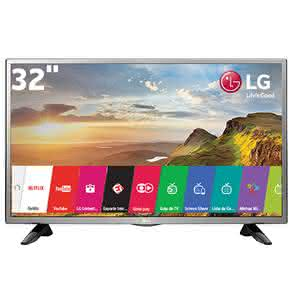 "Smart TV LED 32"" HD LG 32LH570B com Painel IPS, Wi-Fi, Miracast, WiDi,"