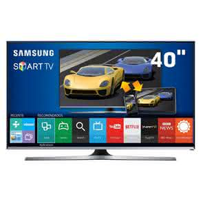 "Smart TV LED 40"" Full HD Samsung 40J5500 com Connect Share Movie, Screen Mirroring,"