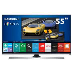 "Smart TV LED 55"" Full HD Samsung 55J5500 com Connect Share Movie, Screen Mirroring, Entradas HDMI e US"