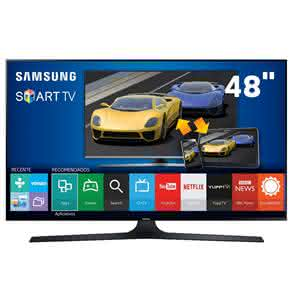 "Smart TV LED 48"" Full HD Samsung 48J6300 com Connect Share Movie, Screen Mirroring,"
