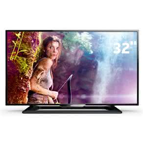 "TV LED 32"" HD Philips 32PHG4900/78 com Perfect Motion Rate 120Hz, Digital Crystal Clear, Entradas HDMI e Entrada USB"
