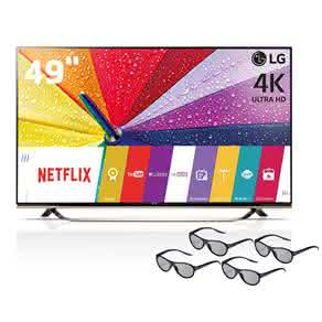 "Smart TV 3D LED 49"" Ultra HD 4K LG 49UF8500 com Sistema webOS, Painel IPS, , Controle Smart Magic e 4 Óculos 3D"
