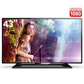 "TV LED 43"" Full HD Philips 43PFG5000/78 com Perfect Motion Rate 120Hz, Digital Crystal Clear,"