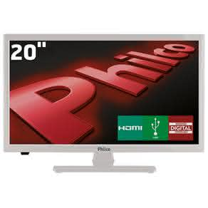 "TV LED 20"" HD Philco PH20U21DB com Receptor Digital,"