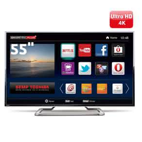 "Smart TV LED 55"" Ultra HD 4K Toshiba 55L7400 com Conversor Digital Integrado,"