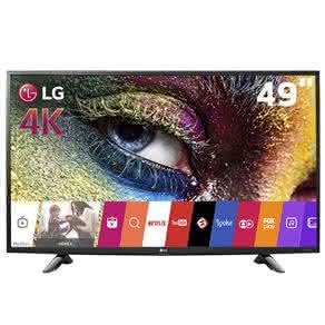 "Smart TV LED 49"" Ultra HD 4K LG 49UH6100 com Sistema WebOS, Wi-Fi, Painel IPS, HDR Pro, Upscalling"