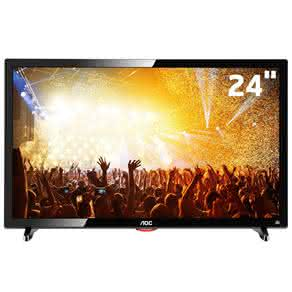 "TV LED 24"" HD AOC LE24D1461 com Conversor Digital Integrado,"