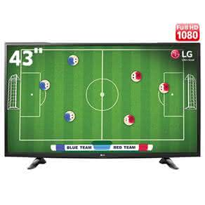 "TV LED 43"" Full HD LG 43LH5100 com Conversor Digital Integrado, Painel IPS, Game TV, Entrada HDMI e USB"